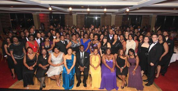 Group photo of the attendees of the ULYP's Urban Renaissance Gala