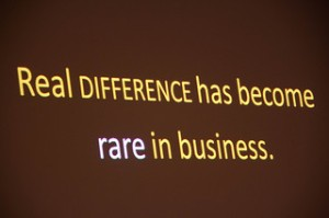 Real difference has become rare in business