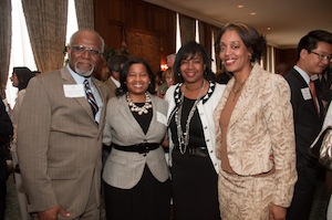 Ronda Williams (second from left) attends the YPN Leadership 100 dinner with St. Louis County Executive Charlie Dooley and others.
